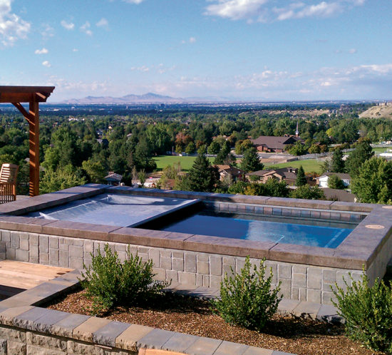Photo gallery cover pools - Rectangle pool aerial view ...
