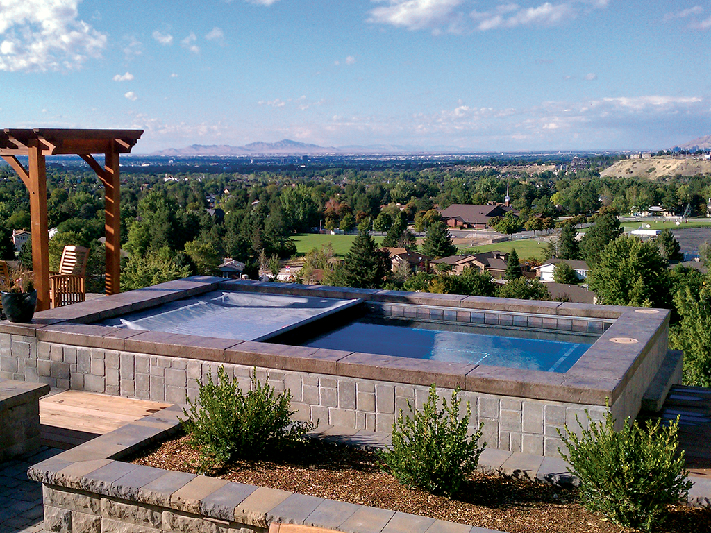 Photo gallery cover pools for Garden pool with cover