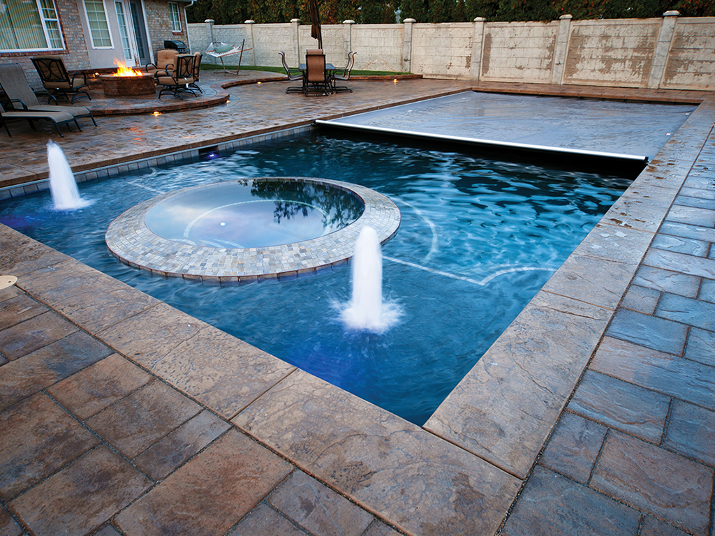 Pool Covers Bubblers Lights Backyard Rectangle Recessed Underside Spa Cover    Cover Pools