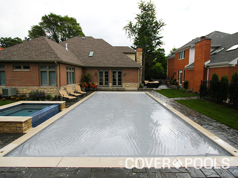 Slate Gray Automatic Pool Cover