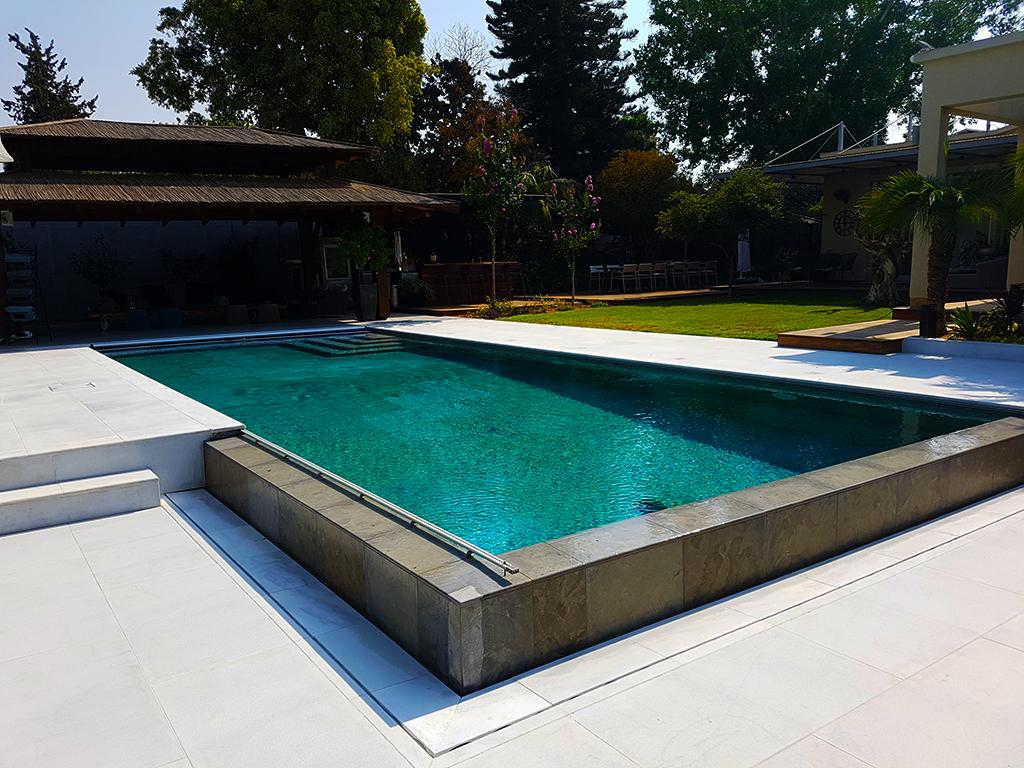 Vanishing Edge Pool with Open Auto Cover